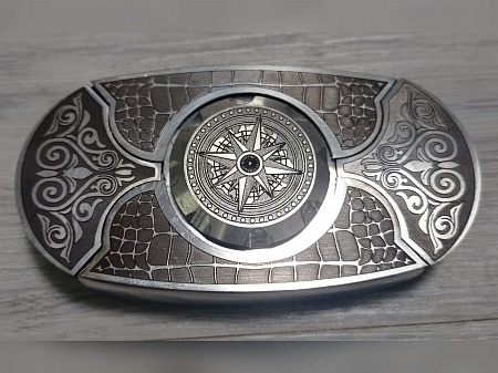 "Buckle-knife belt ""WindRose"", series «Laser COLOR TiN»"